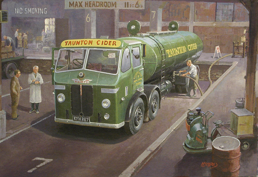 Lorry Painting - Taunton Cider Octopus. by Mike  Jeffries