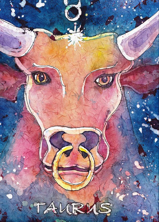Zodiac Painting - Taurus by Ruth Kamenev
