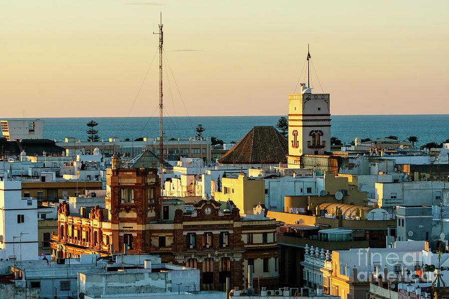 Cadiz Photograph - Tavira Tower And Post Office From West Tower Cadiz Spain by Pablo Avanzini