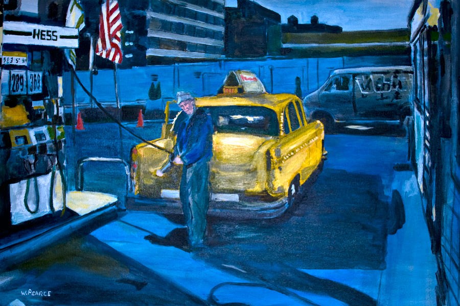 Taxi Painting - Taxi by Wayne Pearce