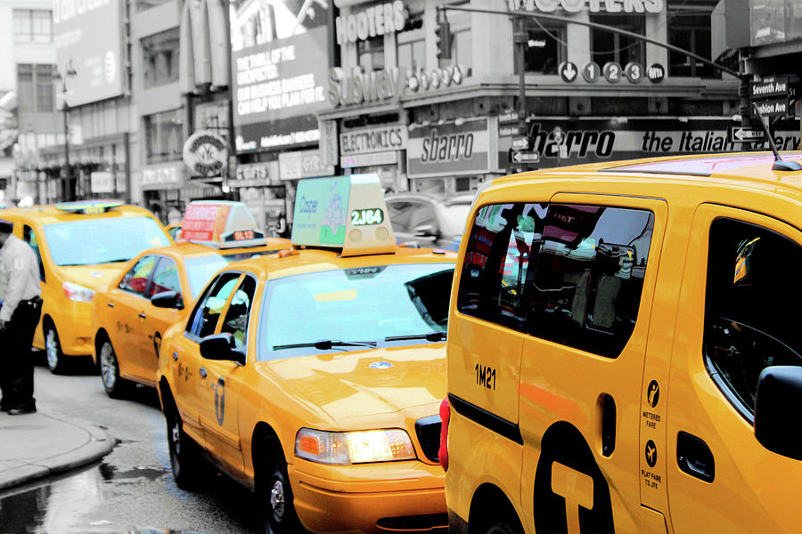 Taxi Photograph - Taxiderby by Tyquill Williams