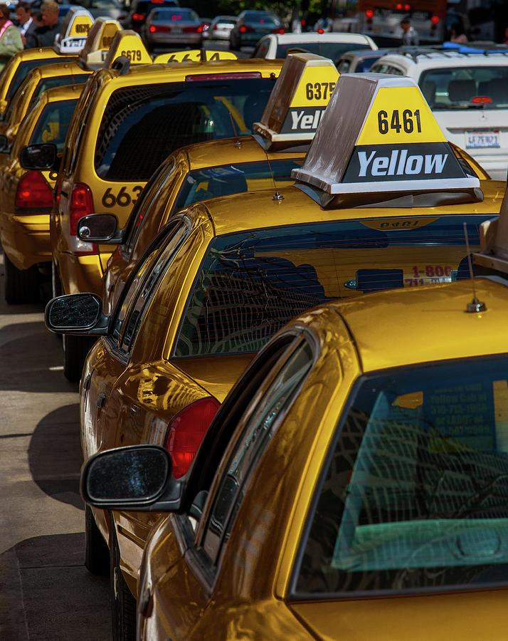 California Photograph - Taxis Wait by Whitman White