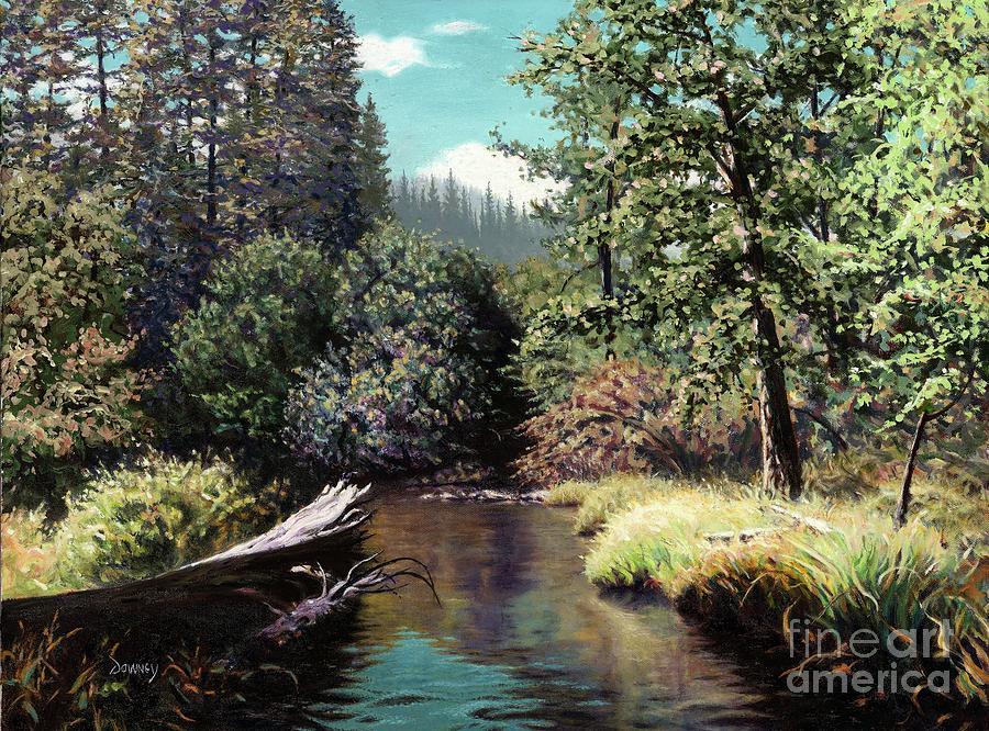 River Painting - Taylor Creek, Lake Tahoe by Carl Downey