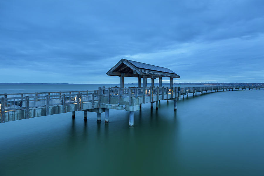 Taylor Photograph - Taylor Dock Boardwalk At Blue Hour by David Gn