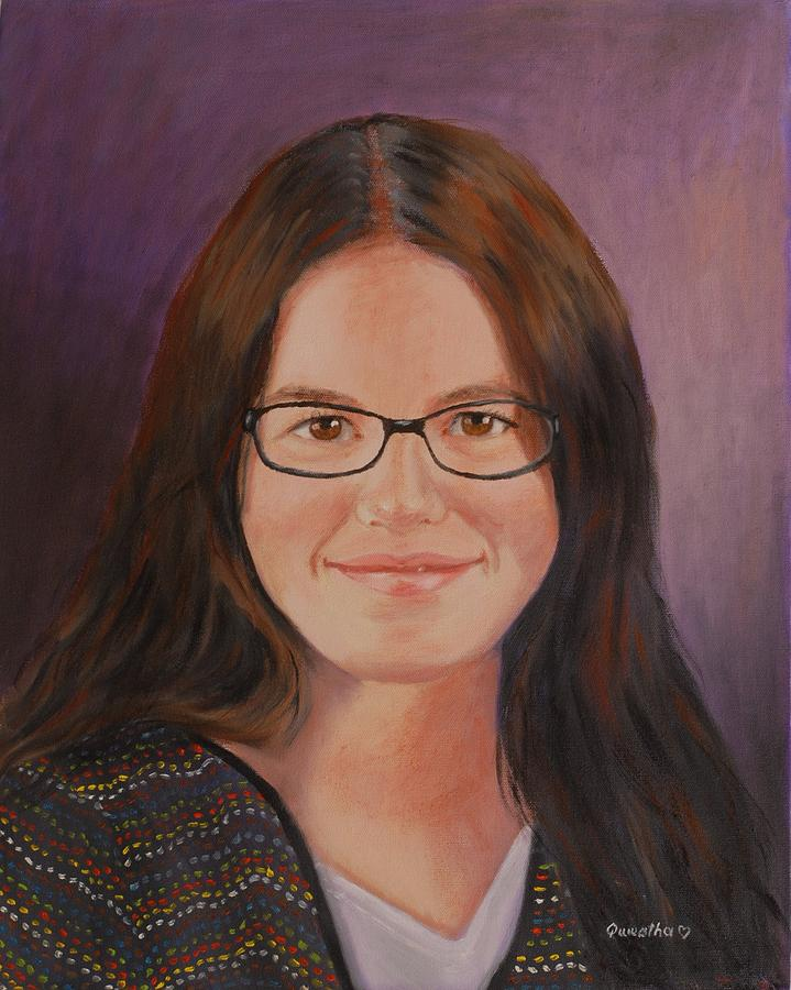 Portrait Painting - Taylor Snow by Quwatha Valentine