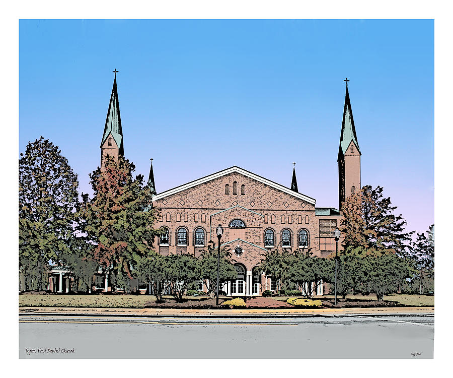 Taylors First Baptist Church Drawing