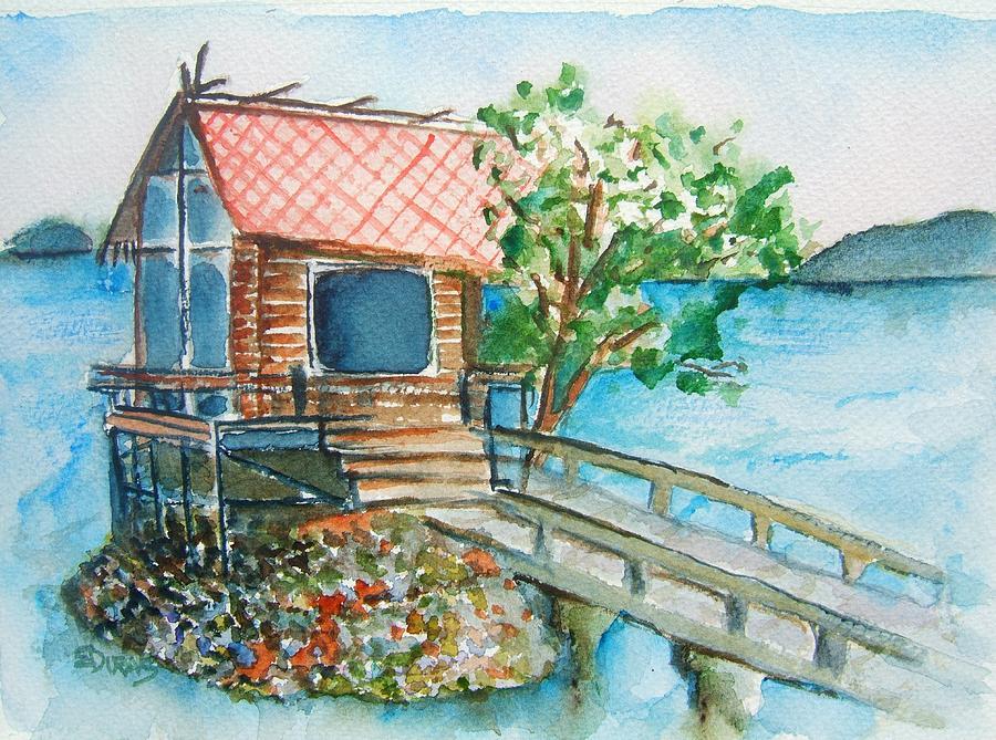 Japan Painting - Tazawako by Elaine Duras