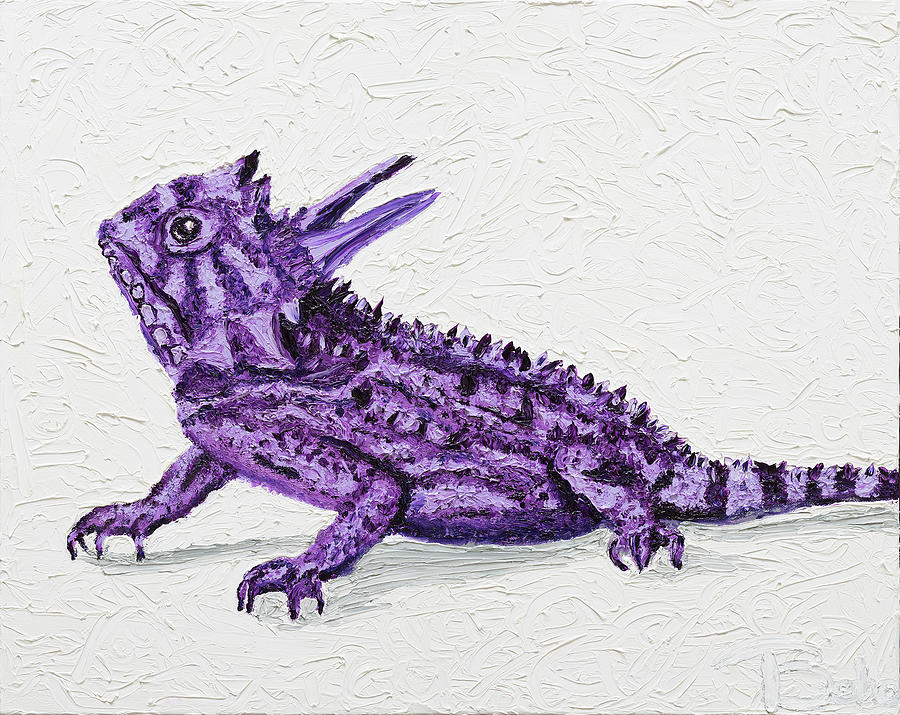 Texas Christian University Painting - Tcu Horned Frog by Tracie Bobo
