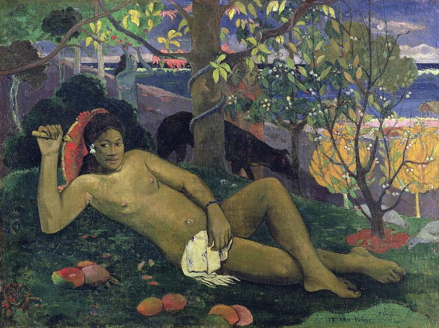 Nude Painting - Te Arii Vahine The King S Wife by Paul Gauguin