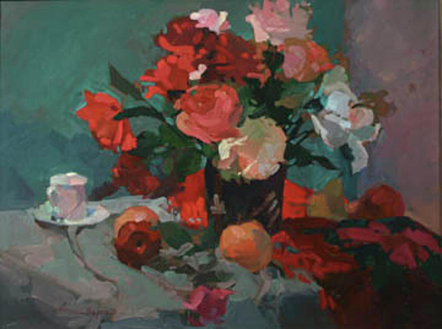 Tea and Peonies by Betty Jean Billups