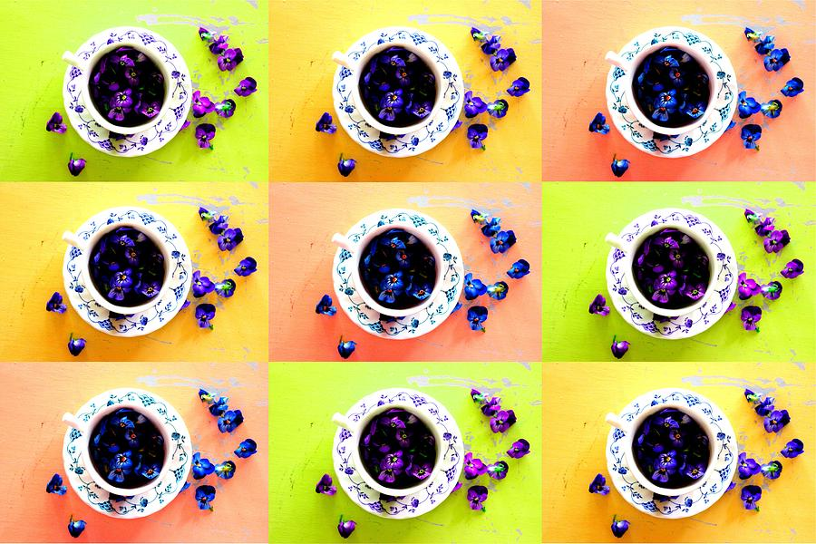 Tea Cups and Violets by Elizabeth Anne