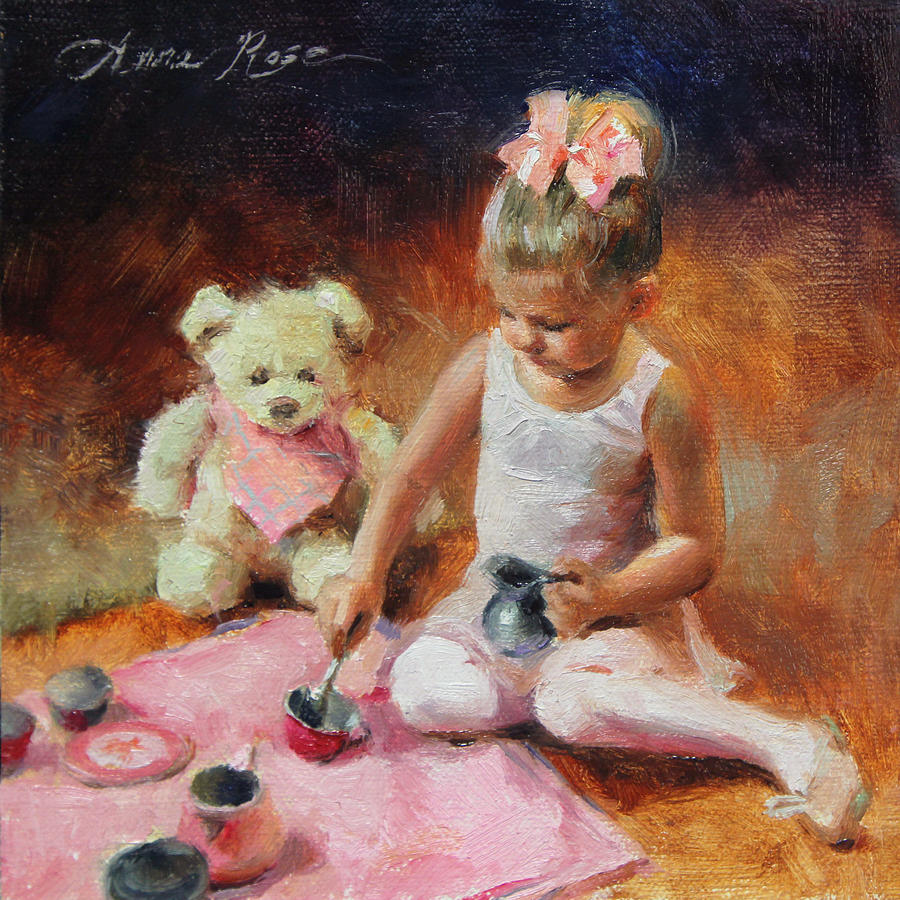 Ballerina Painting - Tea For Two by Anna Rose Bain