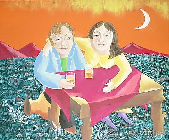 Tea Fro Two Painting by Irena Shklover