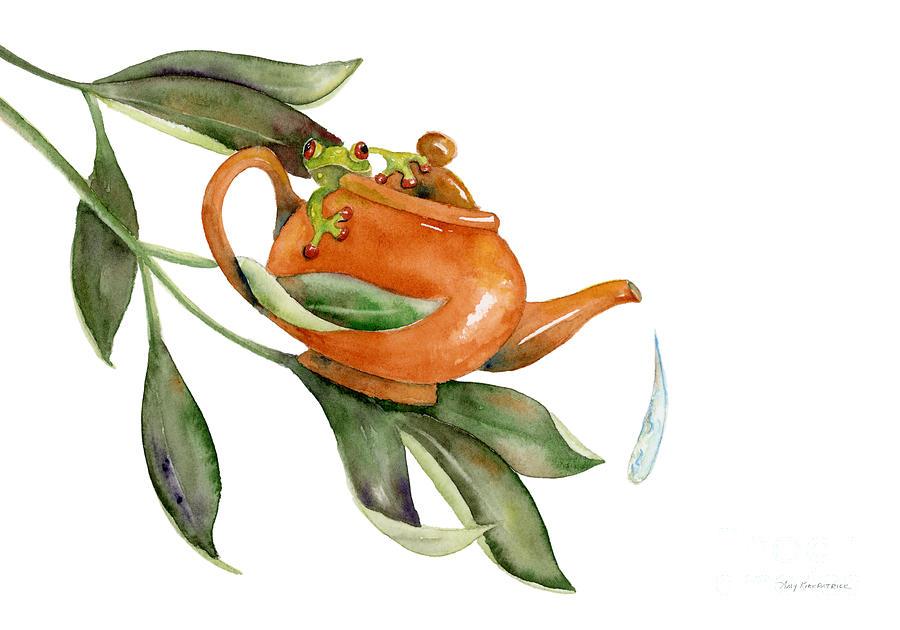 Tea Frog Painting