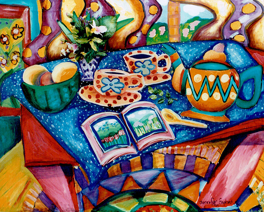 Still Life Painting - Tea Party by Jennifer England
