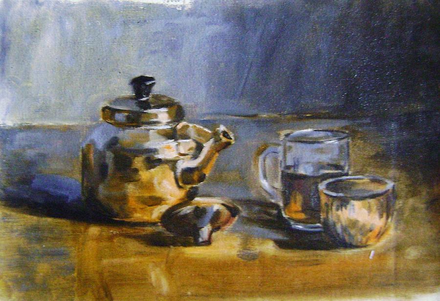 Still Life Painting - Tea Pot by Mehrdad Sedghi