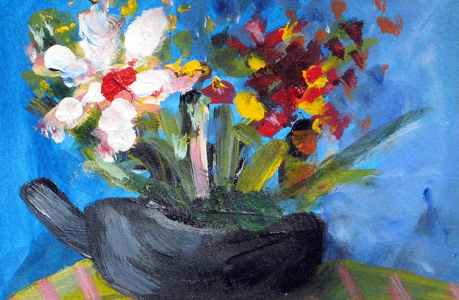 Teapot Painting - Tea Series A by Rebecca Merola
