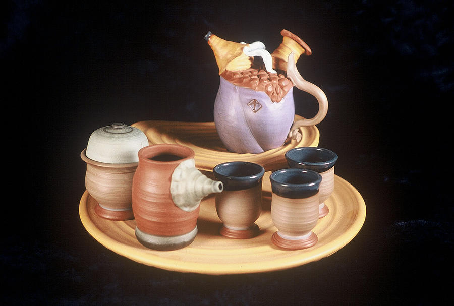 Tea Service Ceramic Art by Kreg Owens