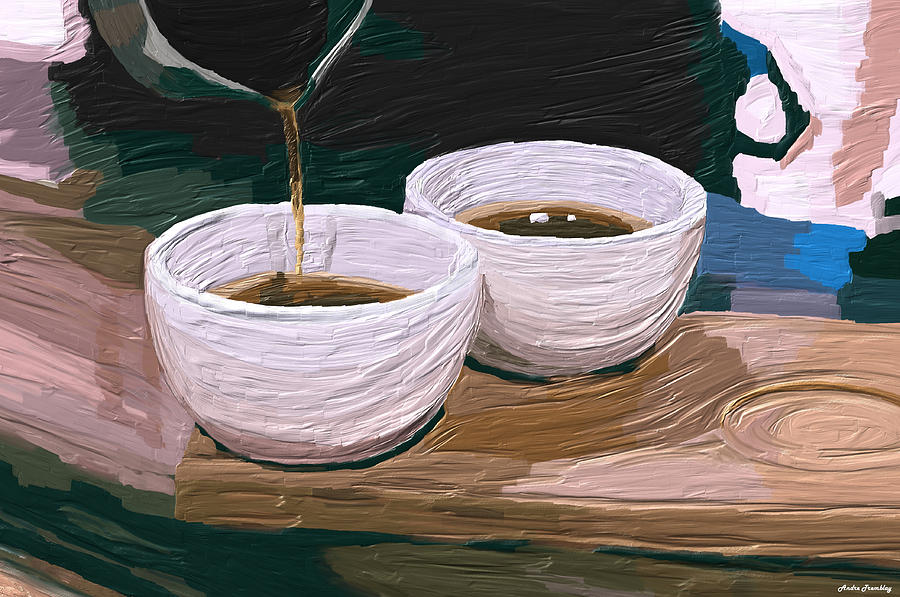 Tea Digital Art - Tea Time by Andre Tremblay