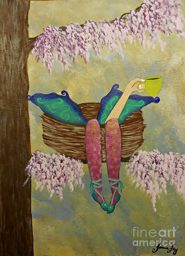 Tea Time at the Fae Nest by Jean Fry