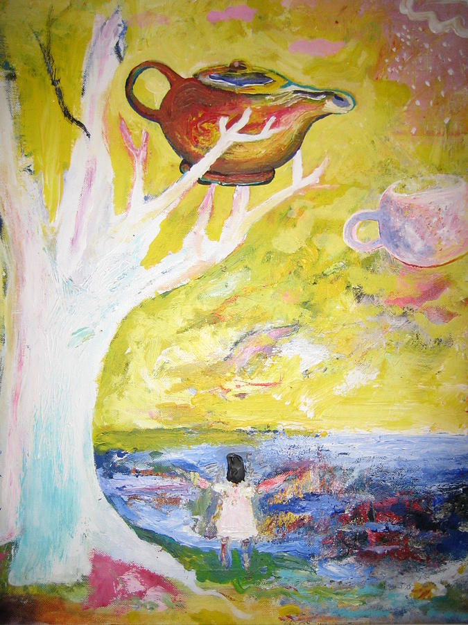 Dreamscape Painting - Tea Time by Jack Walsh