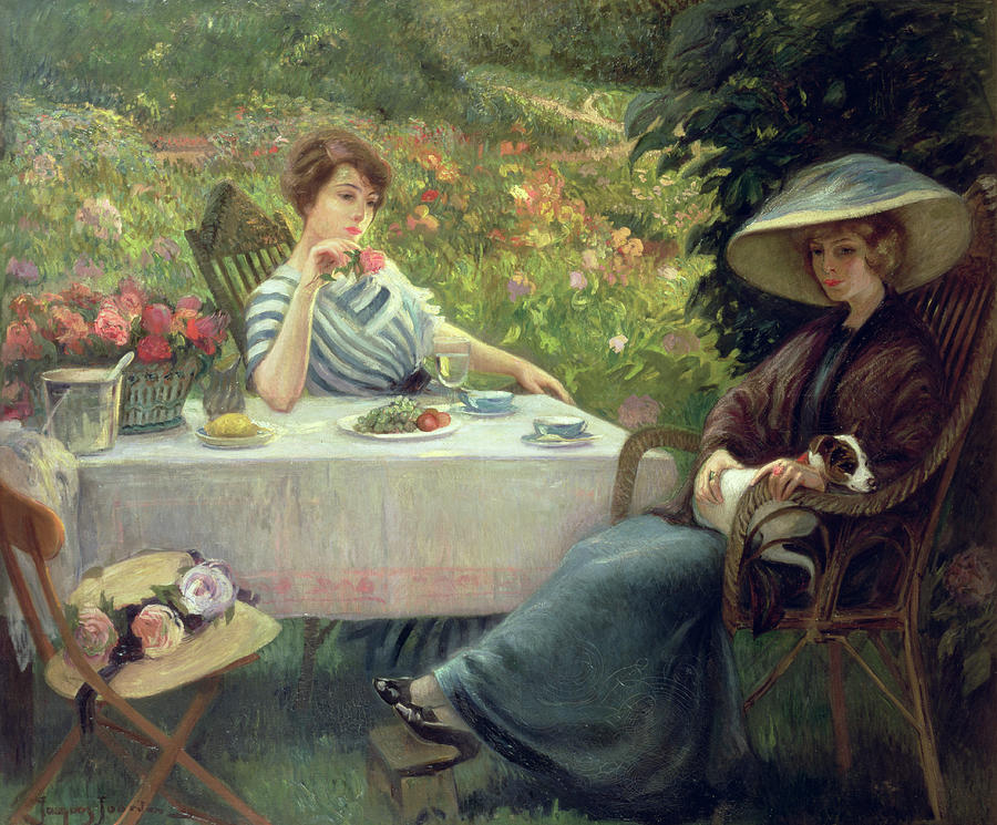 Tea Painting - Tea Time by Jacques Jourdan