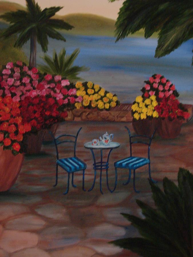Cafe Painting - Tea Time by Shiana Canatella