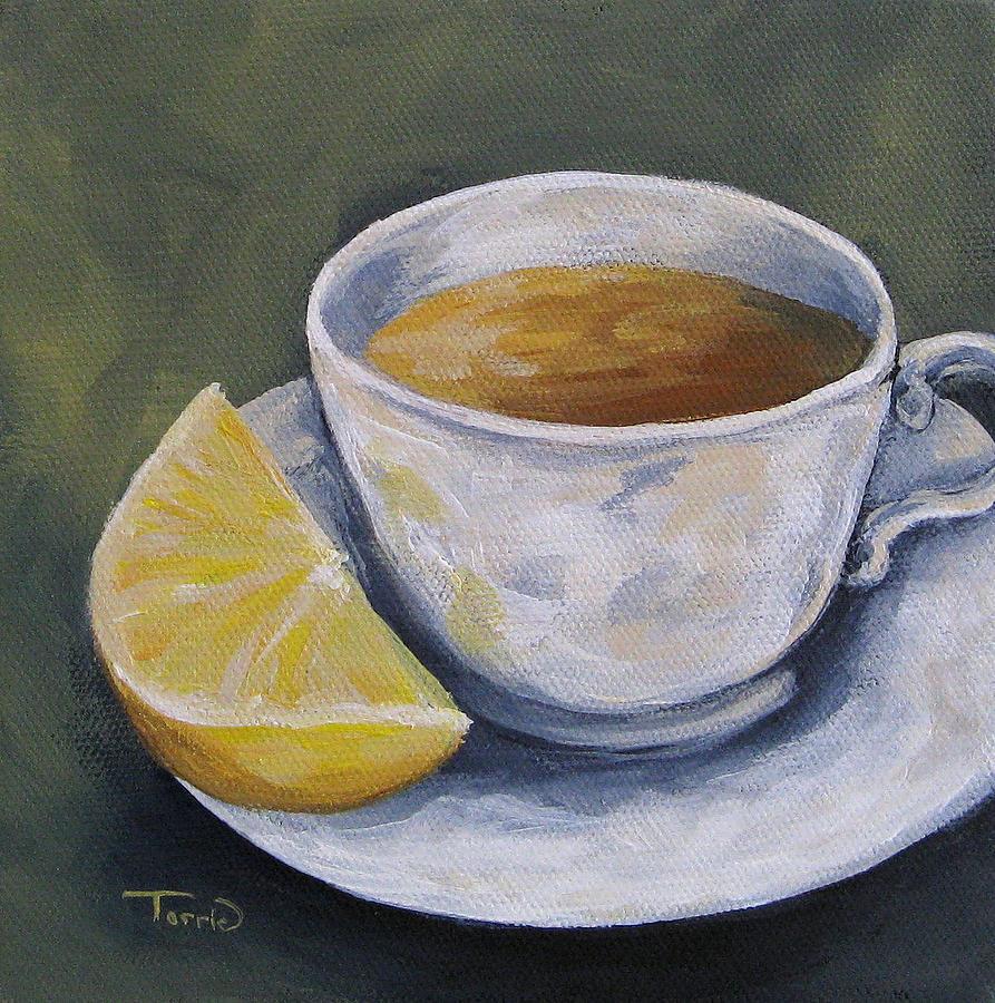 Tea Painting - Tea with Lemon by Torrie Smiley