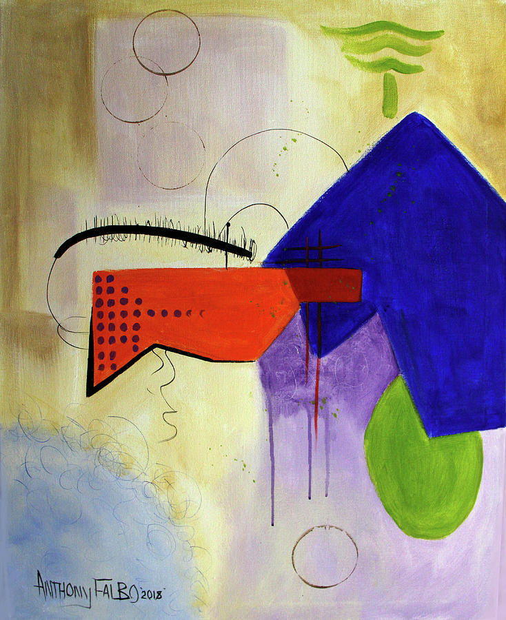 Abstract Painting - Teach Me Psalms 86-11 by Anthony Falbo