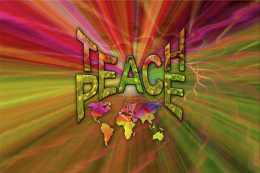 Kindness Painting - Teach Peace by Nadine May