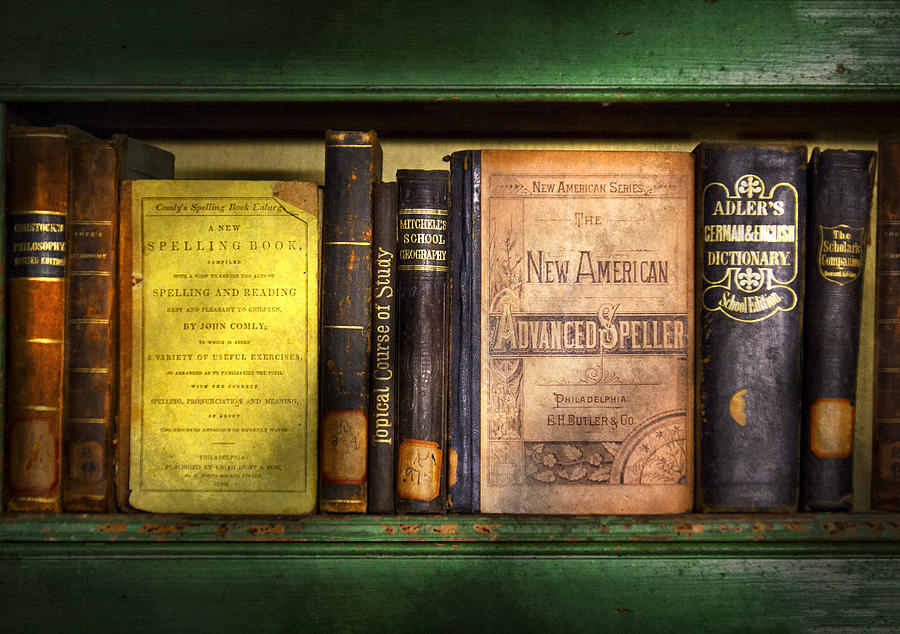 Hdr Photograph - Teacher - Books You Use In School  by Mike Savad