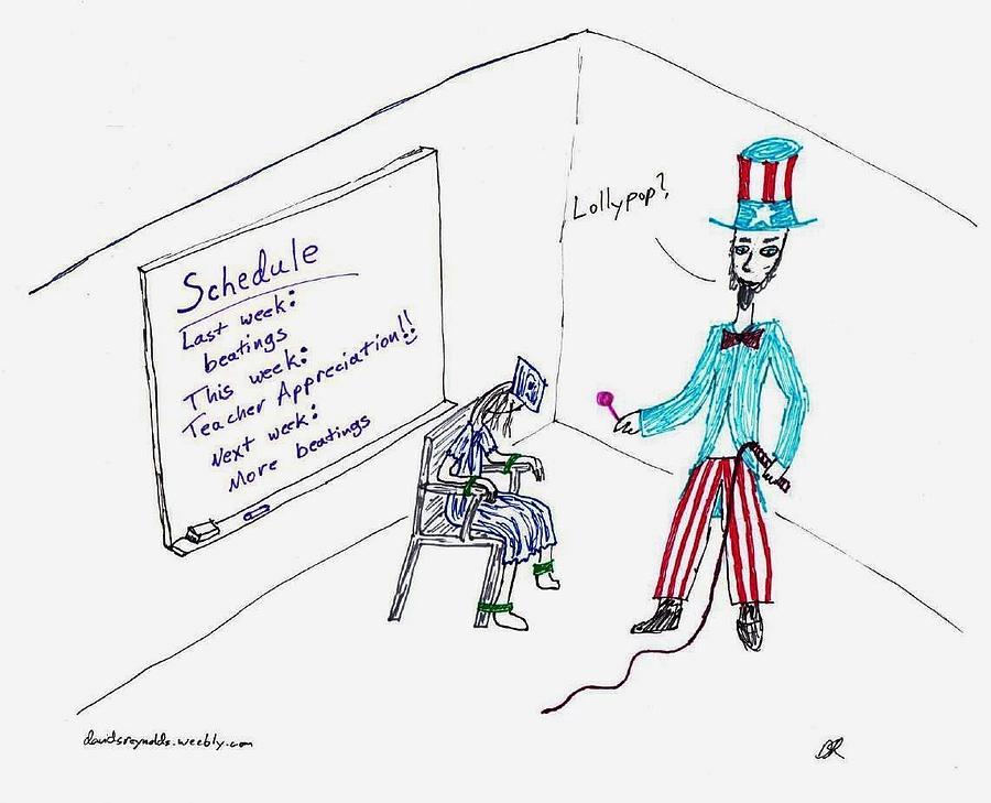 David S Reynolds Drawing - Teacher Appreciation by David S Reynolds