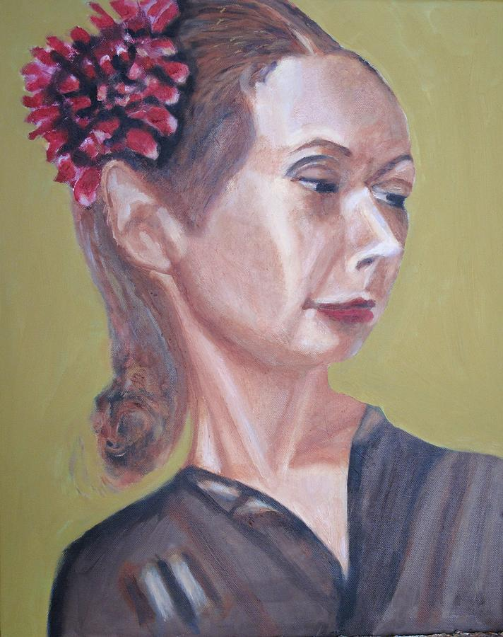 Woman Painting - Teacher by Keith Bagg