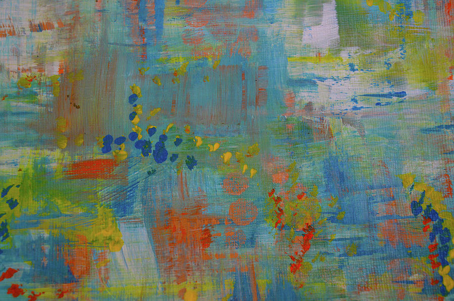 Contemporary Home Decor Painting - Teal Abstract, A New Look Again by Kathy Symonds