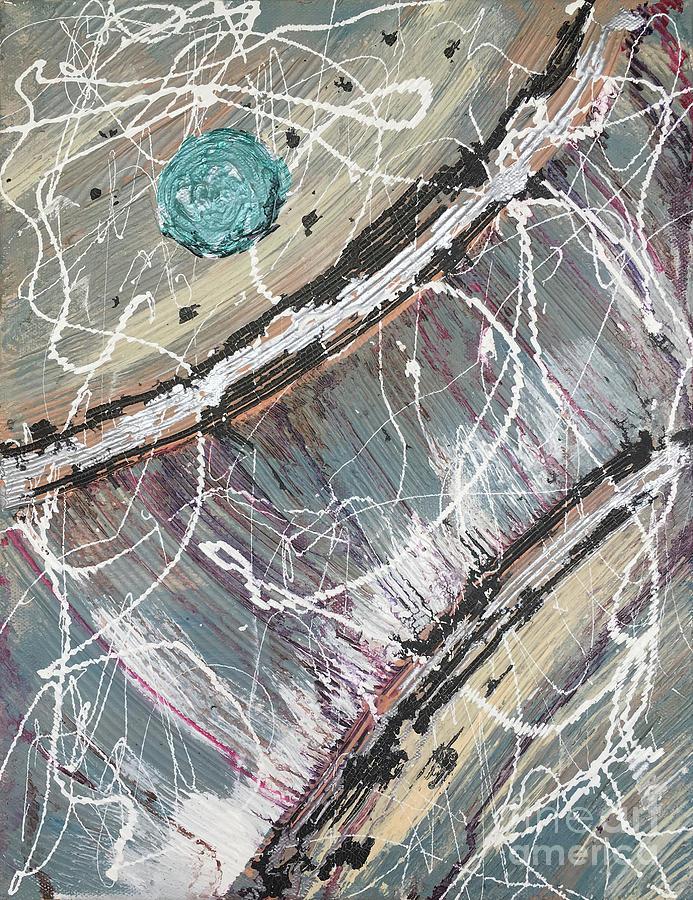 Teal Voyage 1 by Linda Cranston