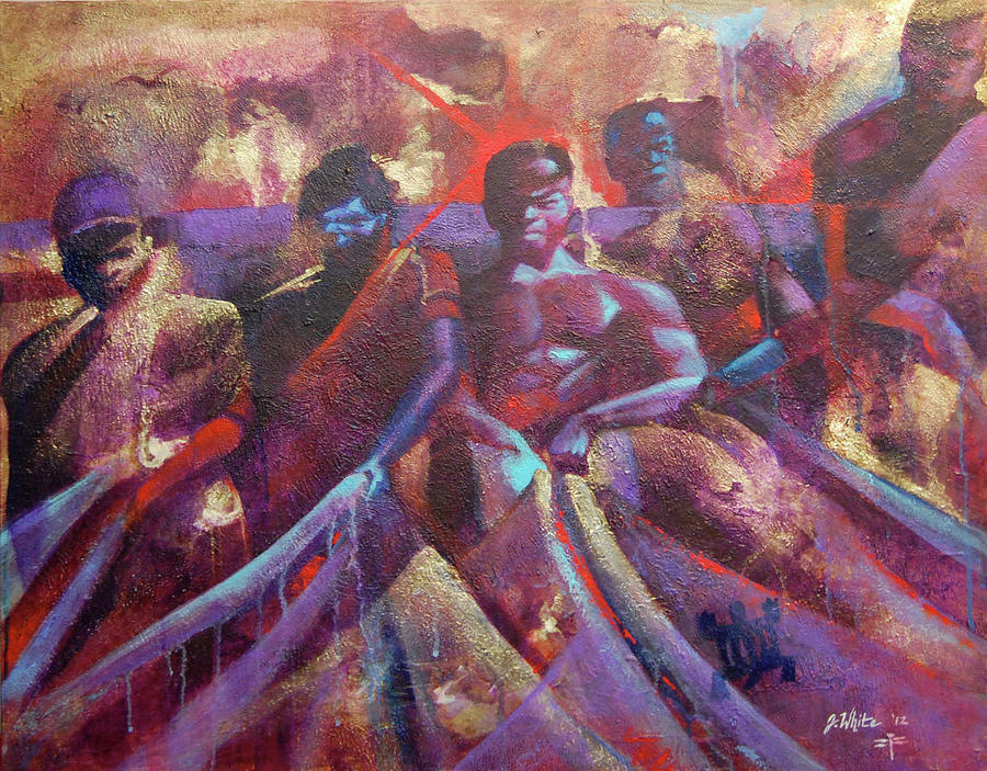 Team Senegalese Fishermen Painting
