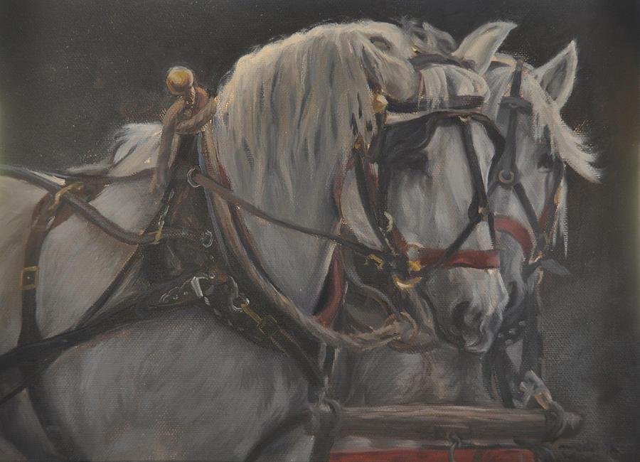 Horse Painting - Teamwork by Tahirih Goffic