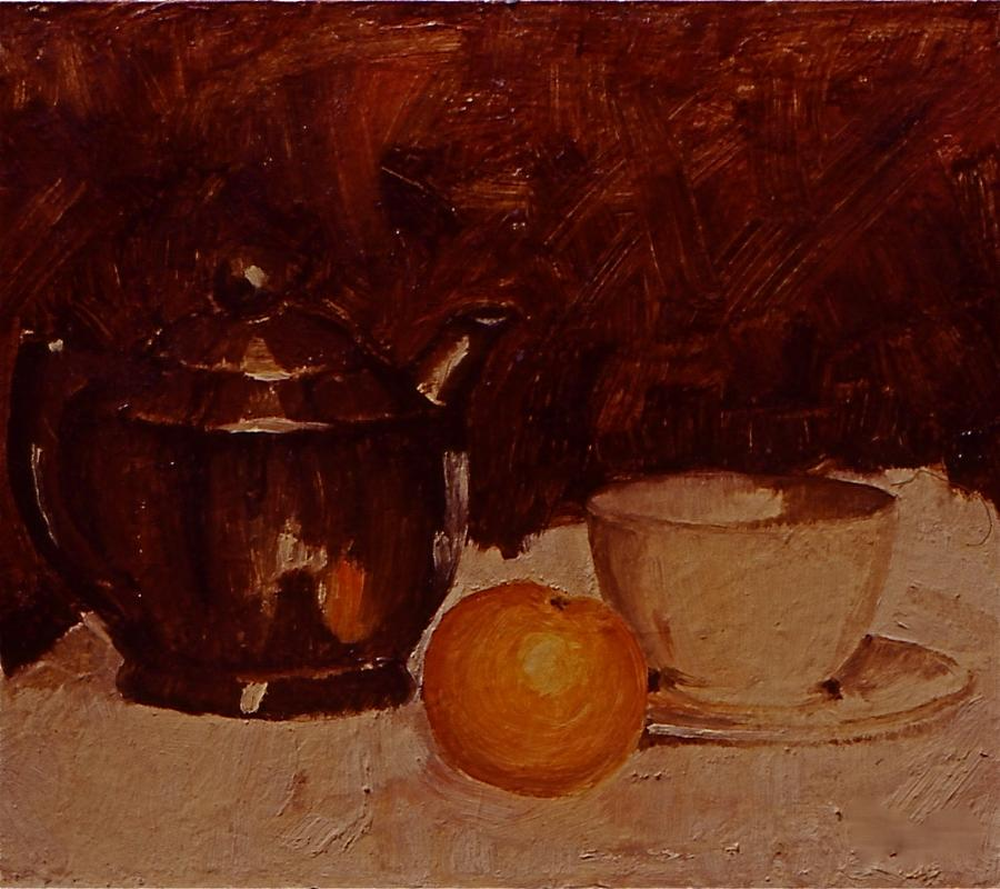 Paintings Painting - Teapot by Chris  Riley