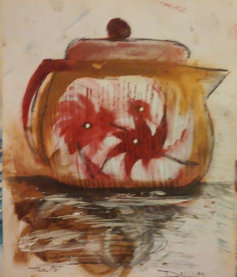 Painting - Teapot by Gregory Dallum