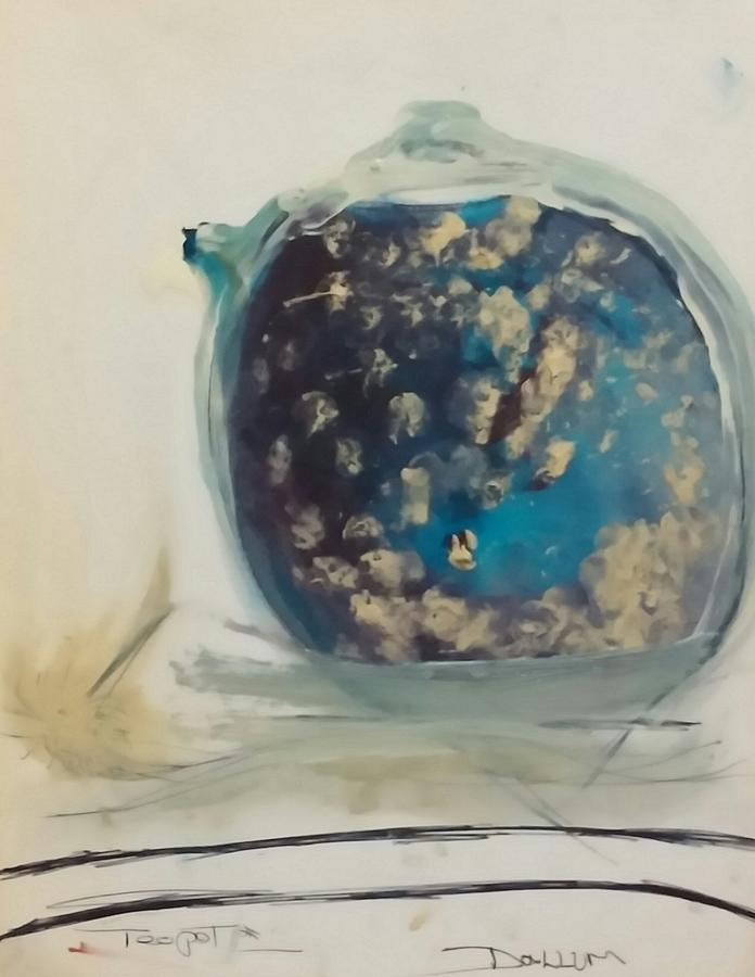 Painting - Teapot No 2 by Gregory Dallum