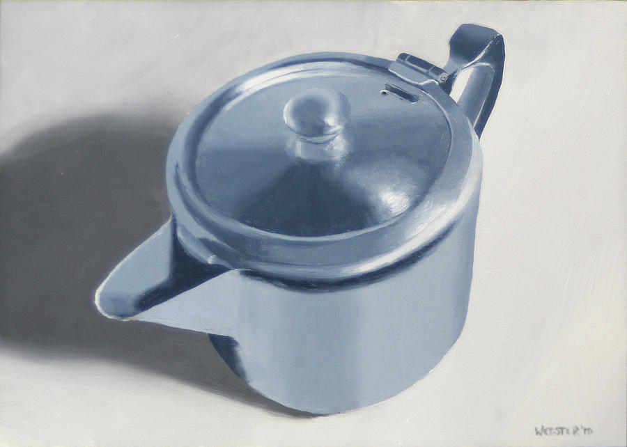 Tea Painting - Teapot Still Life Oil Painting by Mark Webster