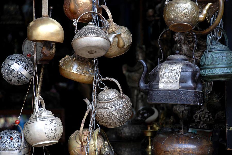 Street Photography Photograph - Teapots by Eva Glykou