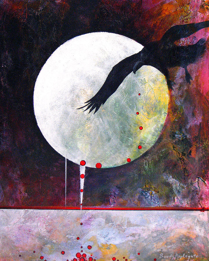 Raven Painting - Tears For Fears by Sandy Applegate