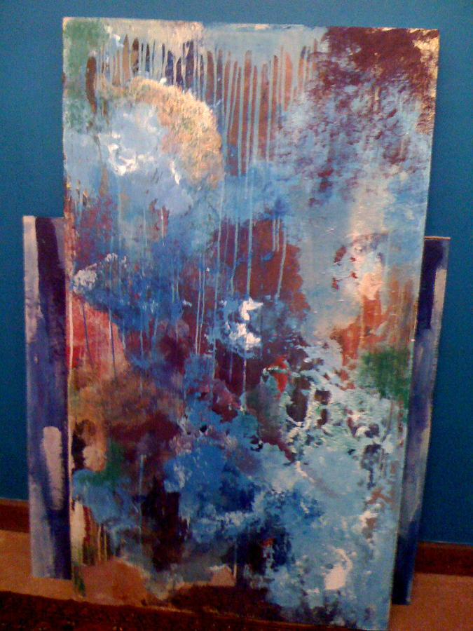 Abstract Painting - Tears For Hiroshima  by Mansour  Boudehane
