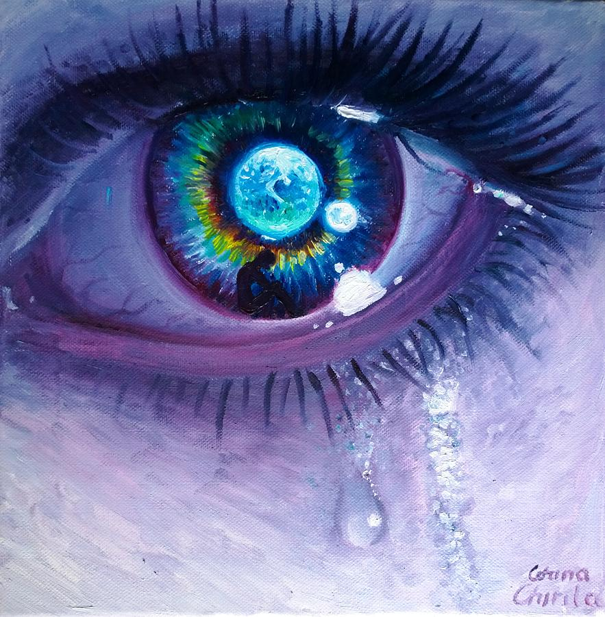 Earth Painting - Tears for the Earth  by Chirila Corina