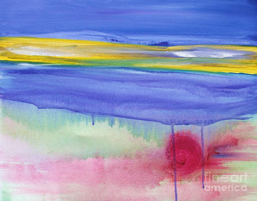 Abstract Painting - Tears From Heaven by Julie Lueders