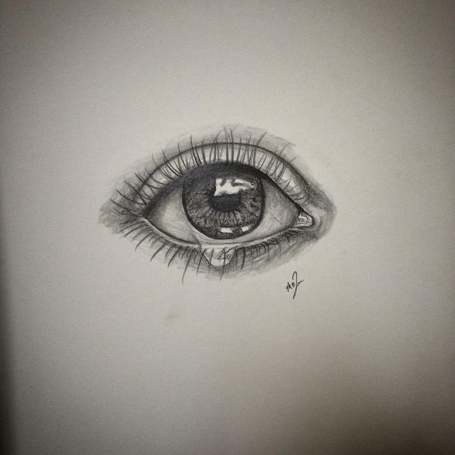 tears drawing by melissa quinio