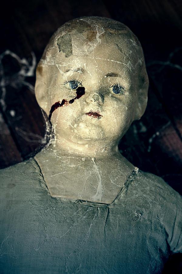 Doll Photograph - Tears Of Blood by Joana Kruse