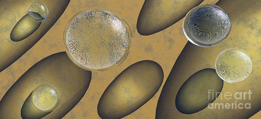 Tear Digital Art - Tears Of Gold by Richard Rizzo