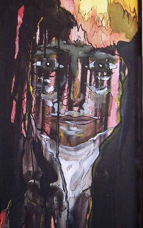 Portrait Painting - Tears Of Hope Sold by Christopher Green